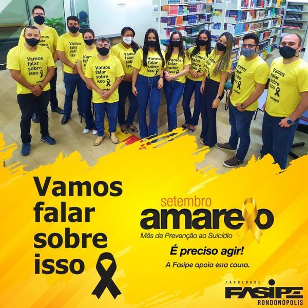 Setembro Amarelo: Fasipe Rondonópolis promove palestras sobre prevenção ao suicídio